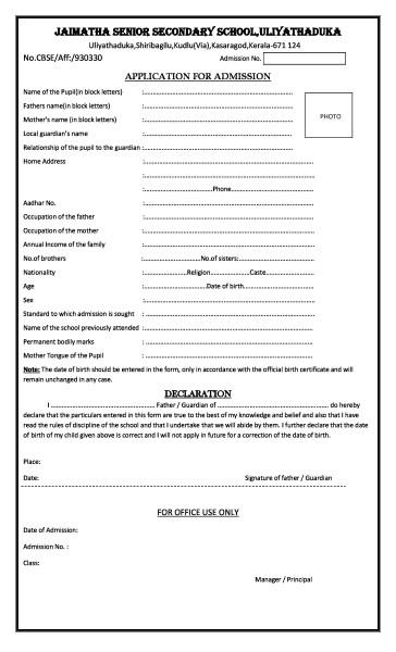 Procedures Jaimatha School Ksd
